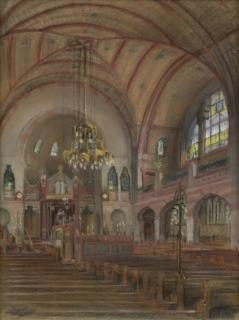 CG Synagoge Groningen Krijttekening Van der Wissel 170912 001@8bit 300dpi web
